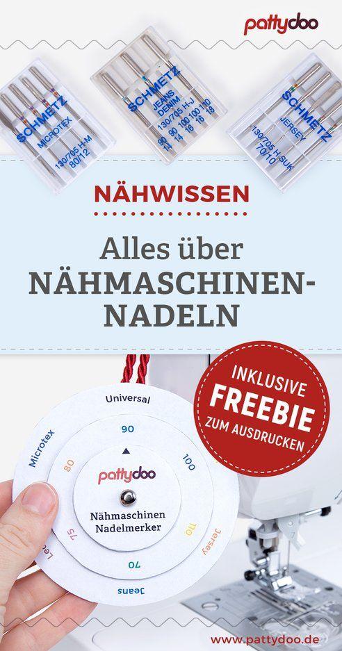 Alles über Nähmaschinennadeln – Arten & Verwendung – mit Freebie!