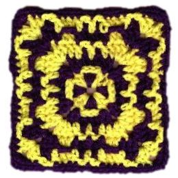 Wild Granny Square - A free Crochet pattern from jpfun.com - link to pdf
