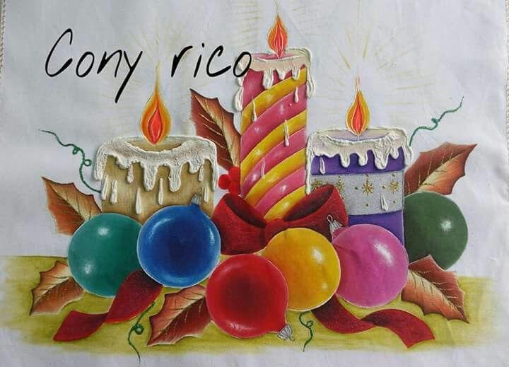17 mejores im genes sobre pintura en tela cony rico en - Motivos navidenos dibujos ...