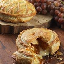 An easy, elegant appetizer for any holiday party. Crisp, flaky pastry wrapped around warm brie cheese, with a touch of apricot preserves.