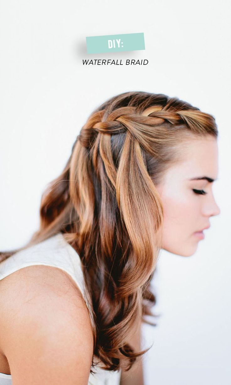 waterfall #braid how-to   Photography: Our Labor of Love - ourlaboroflove.com/  Read more - http://www.stylemepretty.com/living/2014/04/10/diy-waterfall-braid/ Read More: http://www.stylemepretty.com/living/2014/04/10/diy-waterfall-braid/