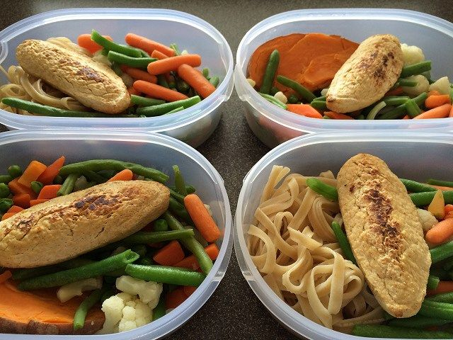 meal prepped and ready