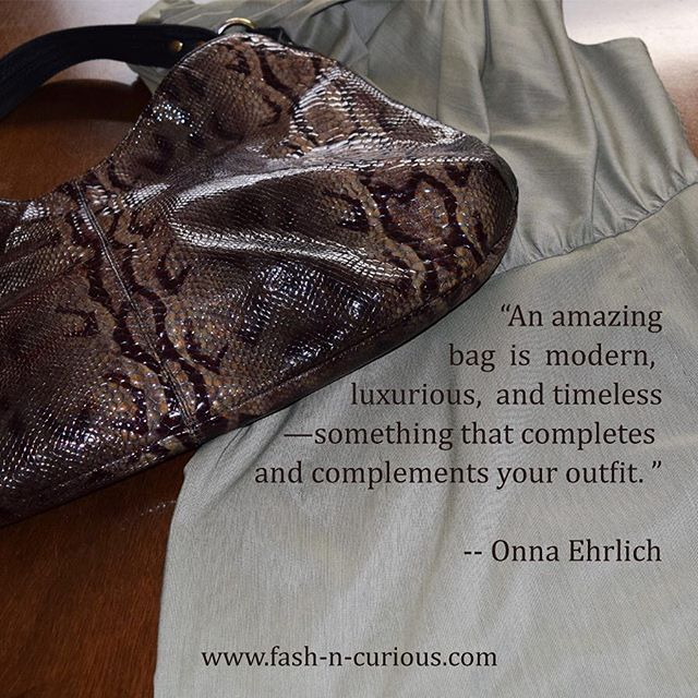 :: Timeless :: -- Fill your wardrobe with timeless pieces that truly make you happy then in style or in season becomes irrelevant and your wallet will thank you. #fashNcurous style tip!! I've had this @onna_ehrlich handbag for about 7 years now and I'm still in love with it!! #wednesdaywisdom #wisdomwednesday . . . . . . . . . . . . . . . . #outfitidea #wiw #mylook #instastyle #instafashion #fashionphotography #photooftheday #fashion #streetstyle #ootdmagazine  #trendsetter #lovethislook…