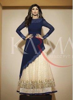 Shilpa Shetty Resham Work Anarkali Salwar Kameez