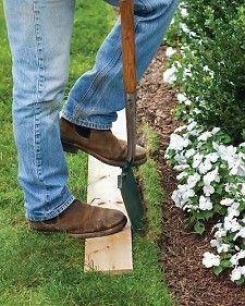 edging a lawn