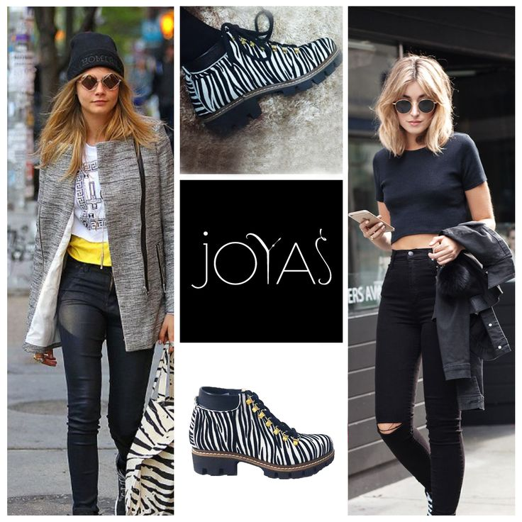 A pair of leather boots with animal prints are unique and comfy @jo