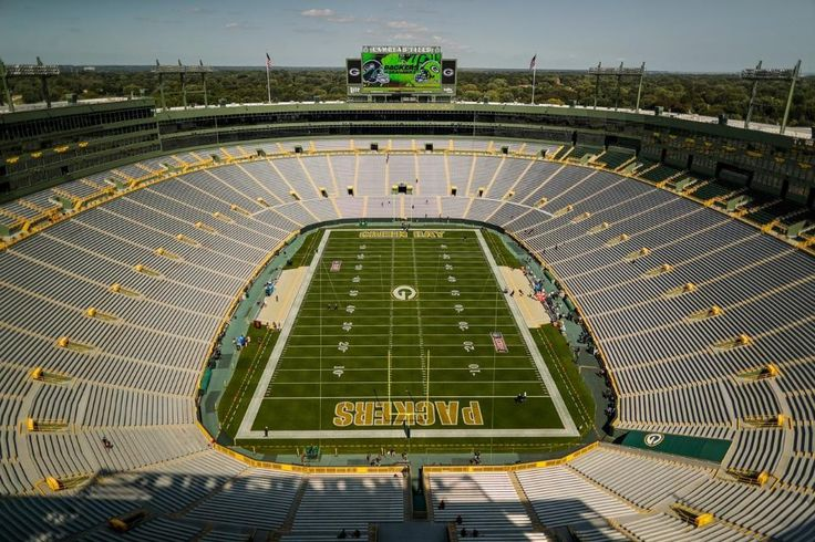"""As Chris Berman would say """"The hollowed grounds of Lambeau Field""""!"""