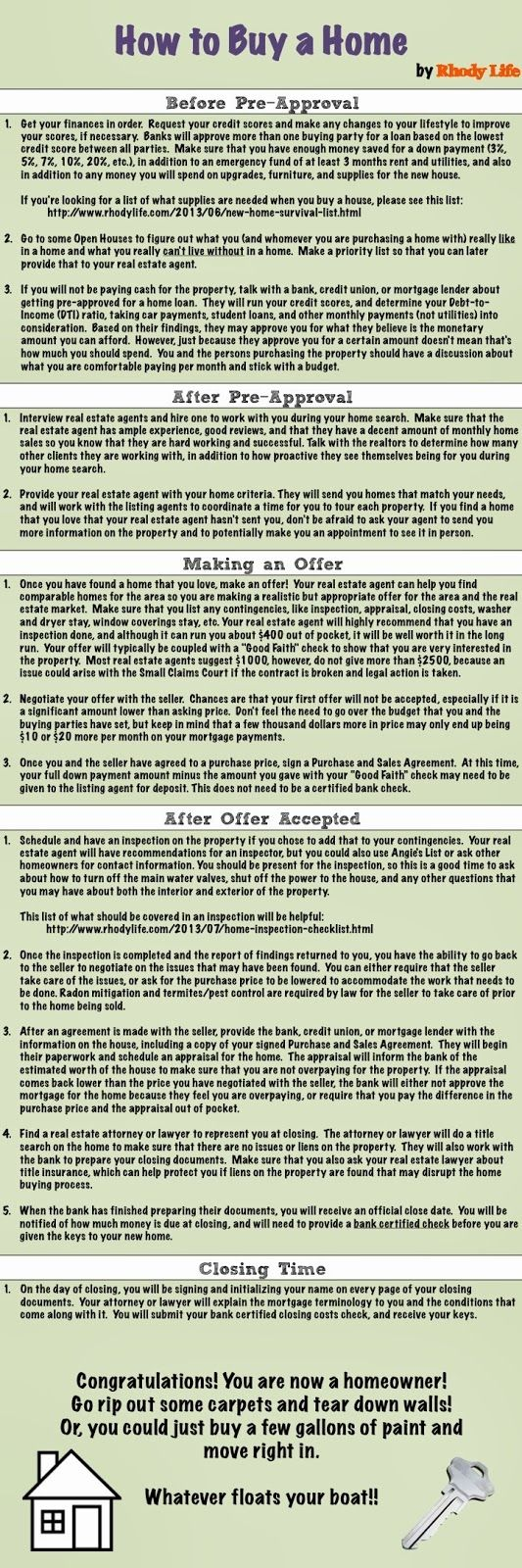 Way to Buy a House Infographic #Infographics