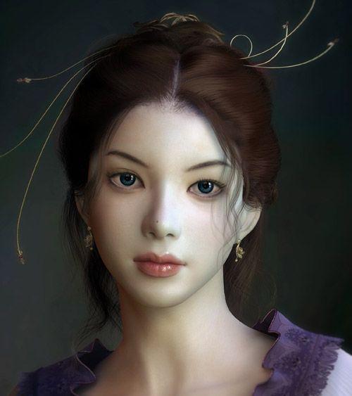 Digital Portrait of Healing Girl