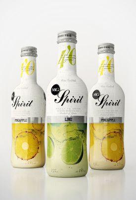 Spirit package design #bottle #white