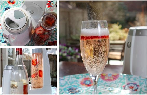 Strawberry Infused Rose Spritzer from Bonne O. Perfect for summer ...