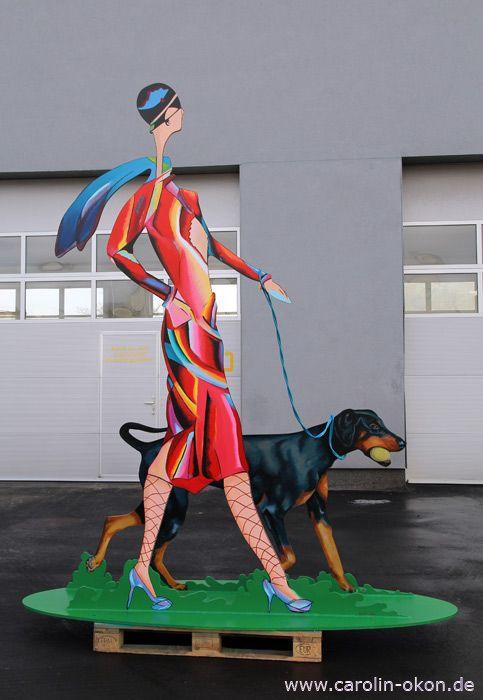 Skulptur aus Stahl 3 Meter hoch