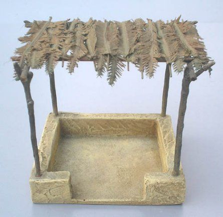 "JGN25A Ancient Market Stall by JG Miniatures Diorama Manufacturer. This was formerly called ""Egyptian Shelter"" and is great for many uses!"