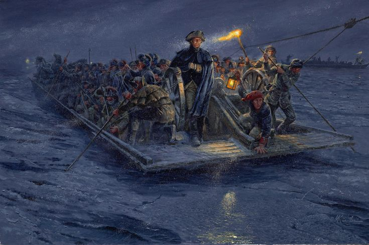 a more accurate depiction of George Washington crossing the Delaware
