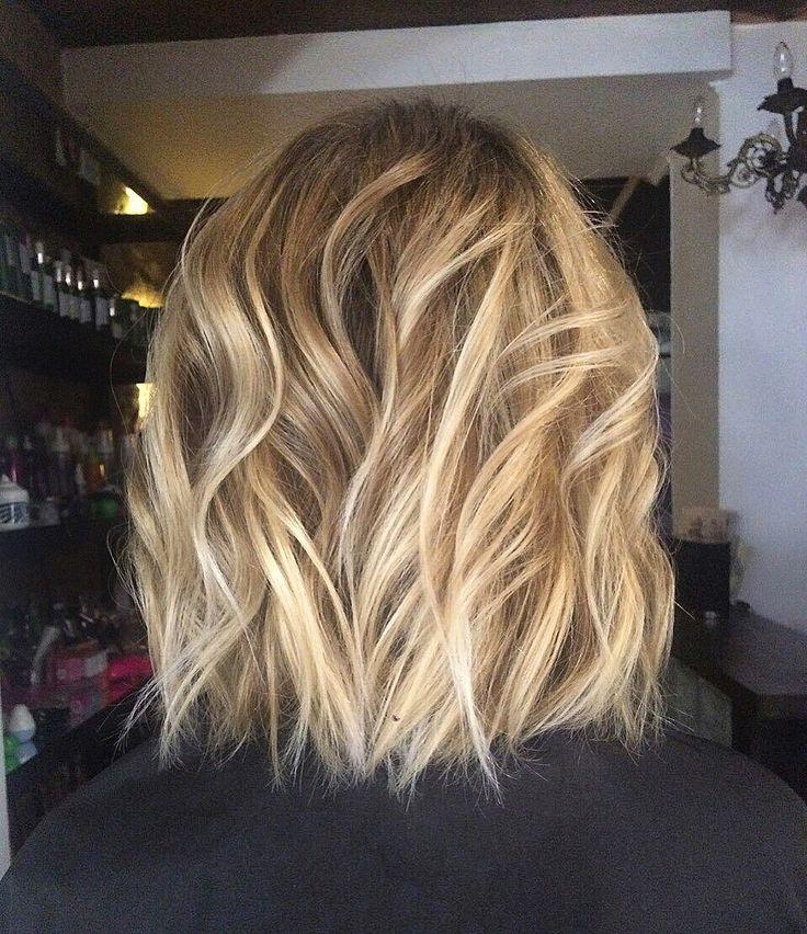 Shatush smartblond blond bobshort hair