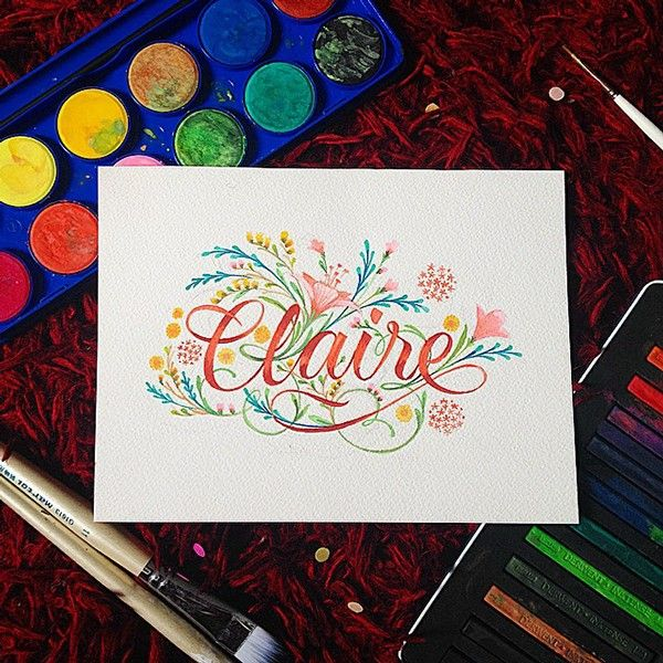 Names with Story on Behance   Claire