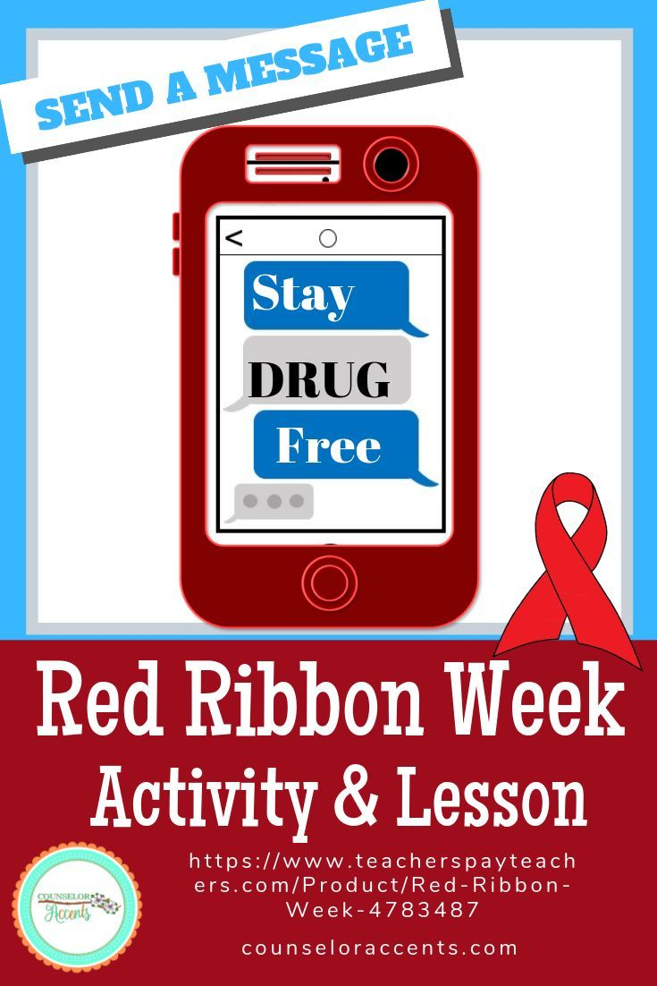 This Bundle Includes Everything You Need For A Successful Red Ribbon Week Campaign There A Red Ribbon Week Elementary School Counselor Middle School Resources [ 1102 x 735 Pixel ]