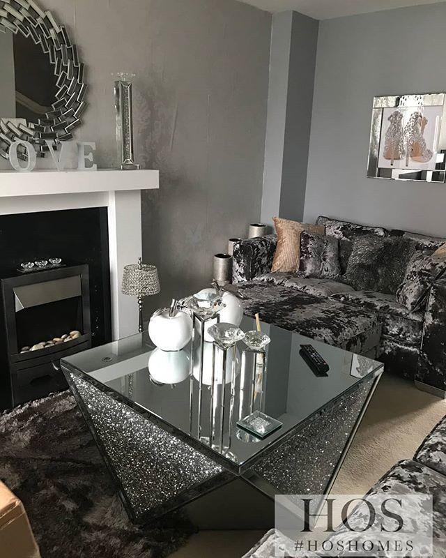 Mirrored Bedroom Furniture, Mirrored Living Room Furniture Set