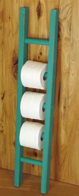 Ladder/ toilet paper holder/ rustic / by EastabrooksTreeWorks