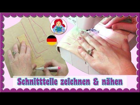 DIY | Waldorfpuppe selber machen: Schnittteile Zeichnen, Nähen und Stopfen | Sami Doll Tutorials - YouTube