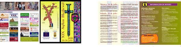 XIX Edición Ayllón Medieval 25 y 26 de Julio del 2015. 26 de Julio durante la tarde. Actuación Miguel Cobo y sus músicas del mundo. 25 de Julio de 2015 durante la tarde-noche. Actuación del grupo@RINGORRANGO. Actuación del grupo@RockCelta Triquel.