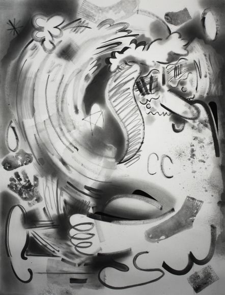 """Brian Scott Campbell, The Meaning of Life 2015, Graphite wash, pencil, and gouache on paper, 50 x 38"""""""