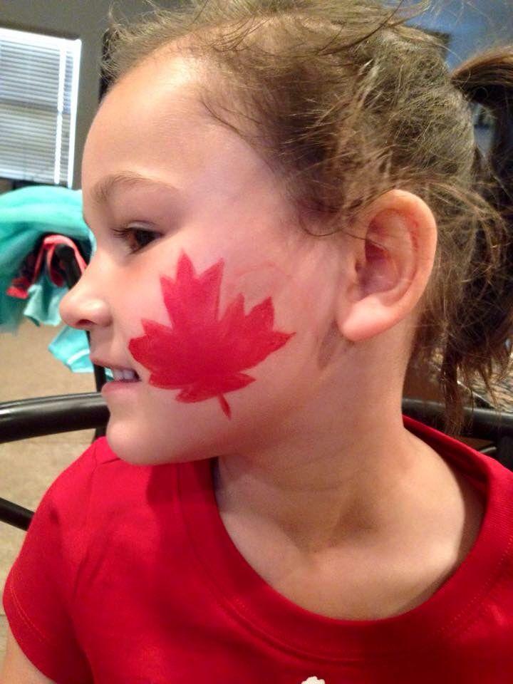 Canadian Maple Leaf - Face Paint - Chelsey Kuzyk