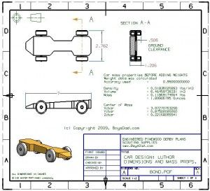 Free pinewood derby car design templates for the home for Free templates for pinewood derby cars