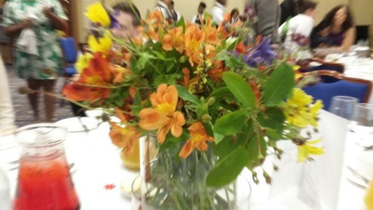 Seasonal wedding flowers arrangement. Love the bright mixture of colours!