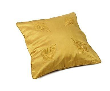 Наволочка декоративная - хлопок - золотой, 40х40 см