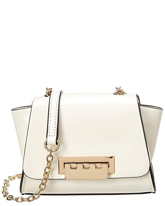 477ca36bfa7 ZAC Zac Posen Women s Eartha Mini Chain Crossbody Cream Puff Patent One  Size