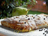 Strudel di pere cioccolato e noci-ricetta dolci-golosofia
