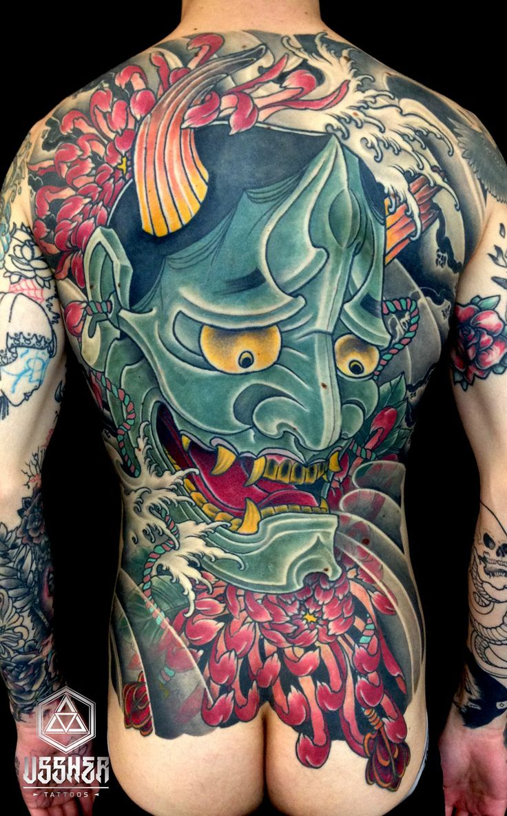 Traditional Hanya Mask Tattoo: 41 Best Images About Hannya Mask Tattoos On Pinterest