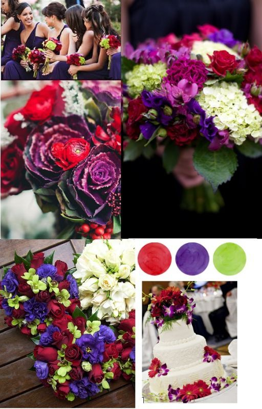November 2017 Wedding Colors Red Green Purple