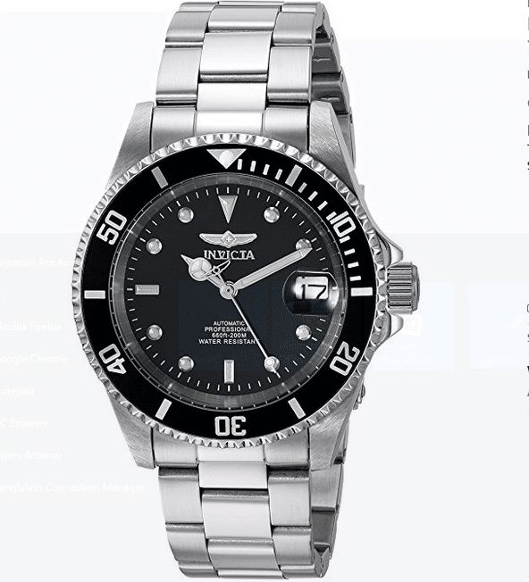 Invicta 8926ob is a stainless steel watch with a link bracelet. It is one of the most popular pro-diver brands. If you think the Rolex Submariner is a little expensive than what you can afford, then you should go for this Invincta! For any doubt, they look pretty much the same!