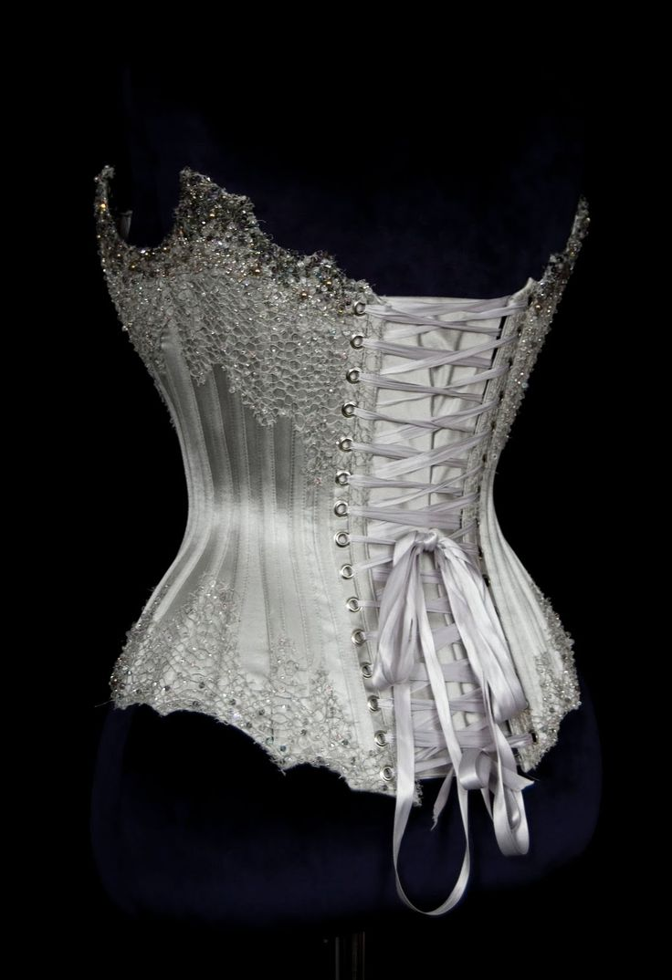Couture wedding corsets and gowns silver beaded corset for Corset bra for wedding dress