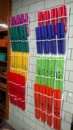 Elementary Etudes: Shoe Storage for Boomwhackers: A Tutorial - love this idea!