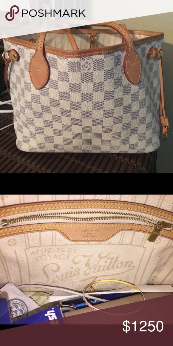 "Louis Vuitton neverfull pm Great condition! selling for 620 on Merc ""Natalie Louis Vuitton pm"" selling for 600 on PP.  NO TRADE NO LOW BALLERS I will not take anything less than 650. Louis Vuitton Bags Totes"