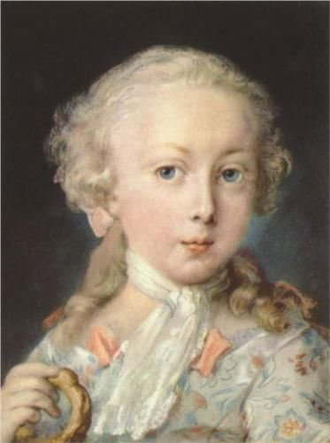 Young Child of the Le Blond Family - Rosalba Carriera (Italian: 1675-1757)