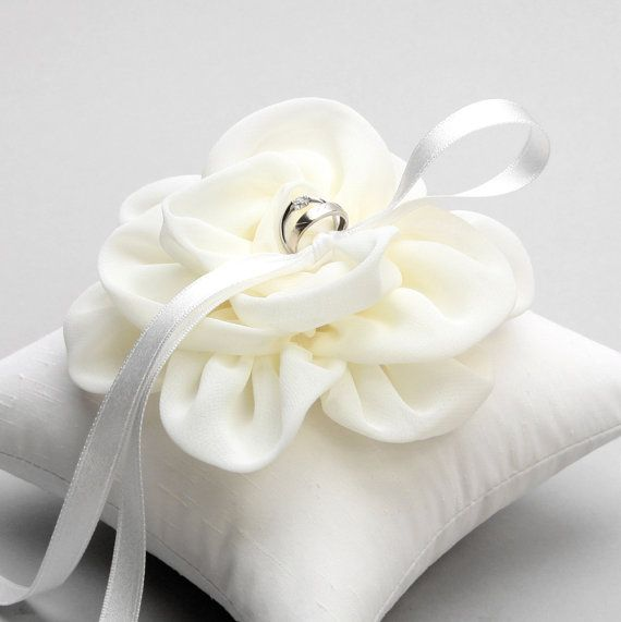 Ring pillow bridal ring pillow flower ring pillow by woomeepyo, $40.00