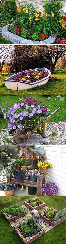 Маленькие цветочные клумбы своими руками фото 24