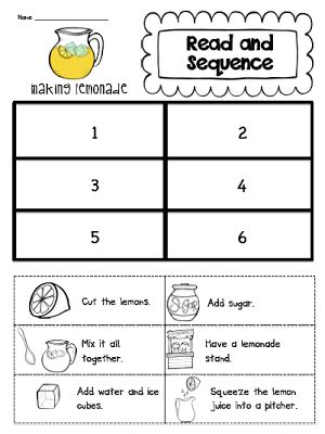 Read and Sequence (unit makeover and a lemonade freebie)
