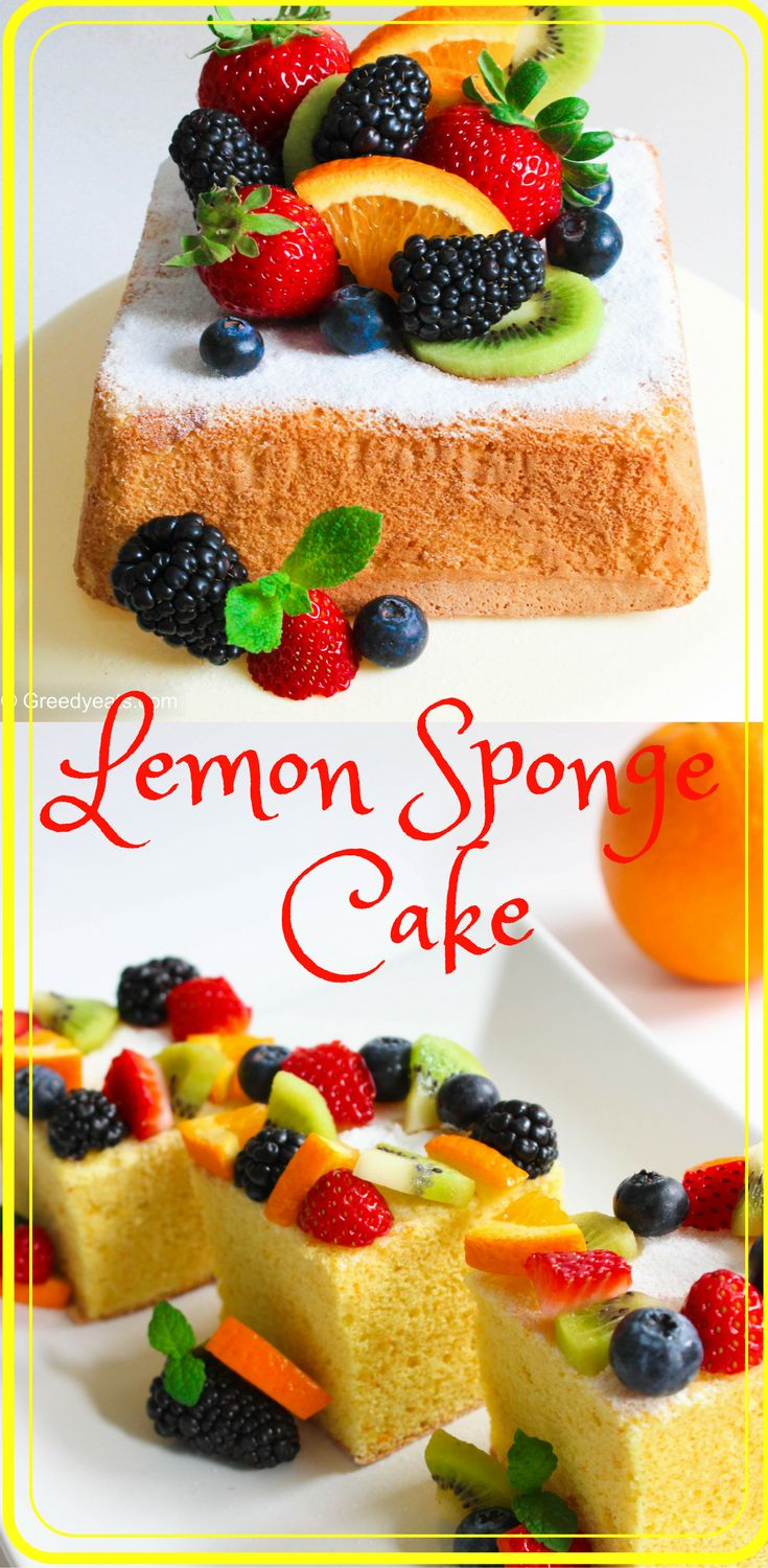 Moist and soft lemon sponge cake whose pillowy texture will make you fall in love with the first bite.#baking #spongecake #sponge #lemon #cake #cakeart #fresh #homemade
