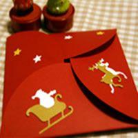 開くとメッセージが現れるクリスマスカード : お手本にしたい!素敵なアイデアの手作りカード画像まとめ - NAVER まとめ
