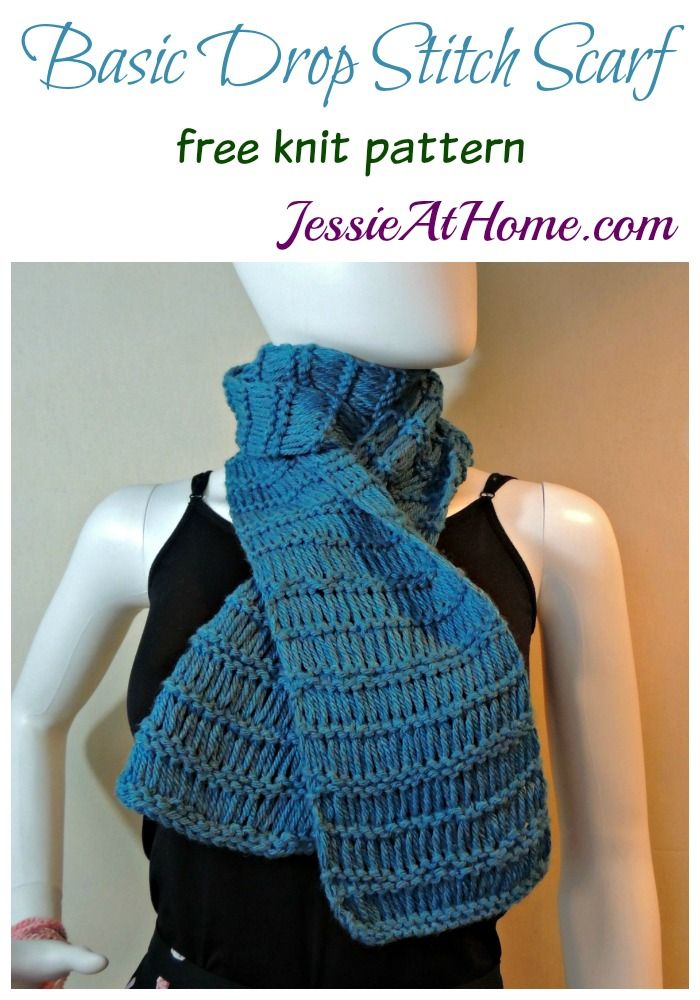 Drop Stitch Scarf Knit Pattern : Basic Drop Stitch Scarf free knit pattern by Jessie At Home Knit Patterns f...