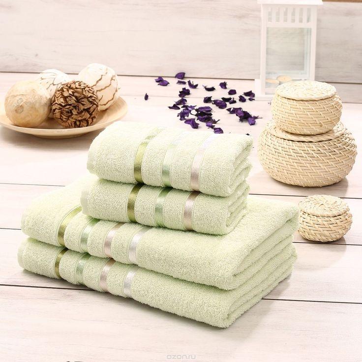 """Набор махровых полотенец Karna """"Bale"""", цвет: розовый, 4 шт - купить по выгодной цене с доставкой. Домашний текстиль от Karna в интернет-магазине OZON.ru"""