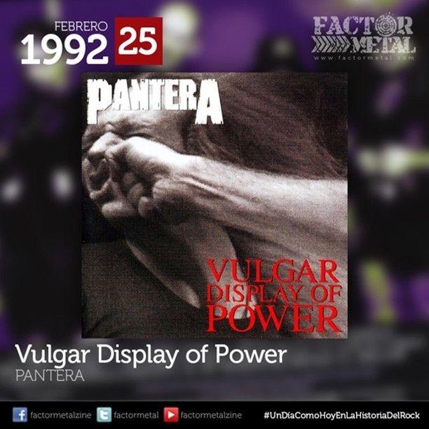 #UnDíaComoHoyEnLaHistoriaDelRock es publicado en 1992 Vulgar Display of Power sexto álbum de #Pantera catalogado como uno de los más influyentes de la década de los '90 asentando las bases del #Groovemetal ralentizando los tiempos de las canciones e incorporando un estilo vocal más áspero y duro. #FactorMetal