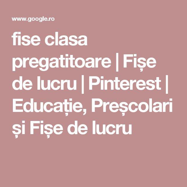 fise clasa pregatitoare | Fișe de lucru | Pinterest | Educație, Preșcolari și Fișe de lucru