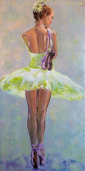 On Pointe II  - Original  ballerina painting