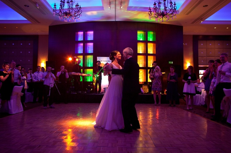 The first dance for the newly weds on their big day at Fota Island Resort
